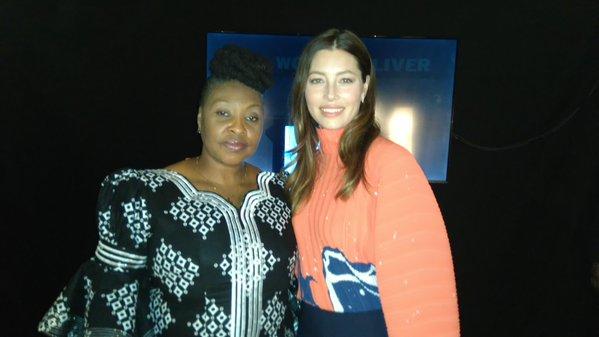 Yvonne Chaka Chaka with Jessica Biel at Women Deliver 2016 in  Copenhagen
