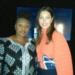 YCC with Jessica Biel backstage